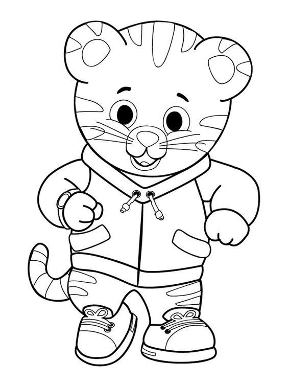 I disegni da colorare di daniel tiger gnius cinema