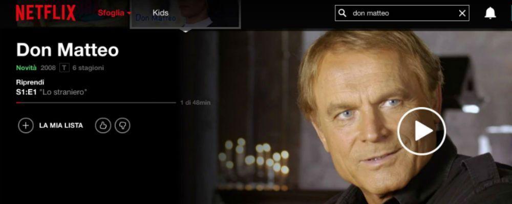 Don Matteo su Netflix